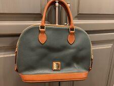 dooney bourke handbags satchel Hunter Pebble Leather