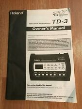Roland Td-3 Owner'S Manual