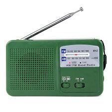 Mini FM/AM Radio Dynamo Generator Solar/Crank Charger Radio+USB Cable+Track HOT
