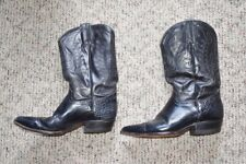 Western Boots by Rudel with Eagle Stitched Black