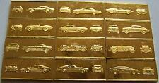 BERÜHMTE AUTOS / AUTO - 925/1000 SILBER MIT GOLD - SILBERBARREN