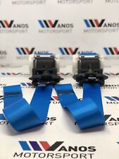BMW e92 328i 328xi 335i 335xi m3 Coupe front seat belt left / right  in blue