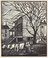 Wash Day in Jackson Ward : Charles W. Smith : Archival Quality Art Print
