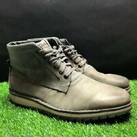 Clarks Mens Leather Gray Ankle Chukka Boots Size 11 M