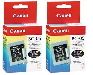 2 X Original Canon BC-05 Color BJC-200 BJC-230 BJC-250 BJC-270 BJC-1000 Boxed