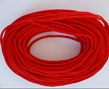 1mm Waxed Cotton Cord Red 10 yard pack (30 feet)