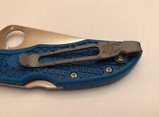 Titanium Deep Pocket Clip For Spyderco Delica 4 FRN Endura 4 Stretch Matriarch 2