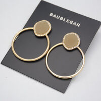 BAUBLEBAR SIGNED JEWELRY GOLD TONE POST STUD EARRINGS HOOP DROP DANGLE FOR WOMEN