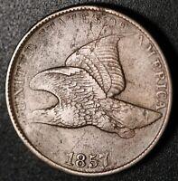 1857 FLYING EAGLE CENT - XF EF Details
