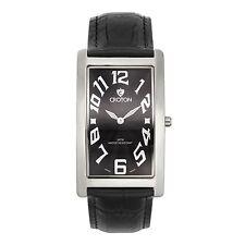 Croton Men's CN307533BSBK Aristocrat Stainless Steel Silver Rectangular Watch