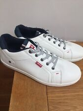 •Levi's Ladies Men Size 6 Uk 39 Euro New White Shoes Trainers Sneakers