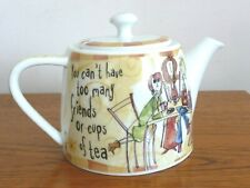 Born to Shop Teapot 'You can't have too many friends...' by Johnson Bros