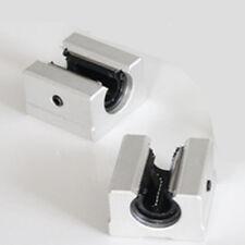 2pcs SBR12UU 12mm Aluminum  Linear Ball Bearing Pillow Bolck Linear unit for CNC