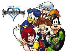 POSTER KINGDOM HEARTS 2 3 ROXAS SORA RIKU KAIRI KEYBLADE PSP #5