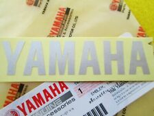 GENUINE YAMAHA 100mm x 25mm METALLIC SILVER DECAL STICKER BADGE LOGO *UK STOCK*