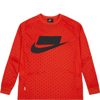 Nike Sportswear Long Sleeve Top New Men's Red Black 2018 Sports NSW 930325-634