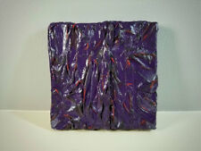 Purple Textured Tissue Paper & Acrylic Mixed Media Art Wall Decor