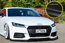 Frontspoiler mit Wing aus ABS für Audi TT TTS 8S S-Line mit ABE in Carbon Optik