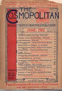1903 Cosmopolitan June-H G Wells; Sugar Beets; Making Journalism your profession