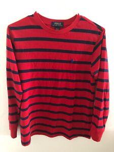 POLO RALPH LAUREN  boys striped long sleeve sweater size M 10-12
