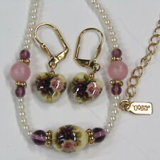 Vintage 1928 Necklace Earring Set Designer Signed Costume Jewelry NWT #15