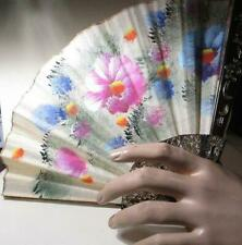 Lovely Floral Hand Painted Vintage Hand Fan