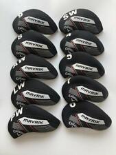 10PCS Golf Iron Headcovers for Callaway Mavrik Club Covers 4-LW Blue Black R/H