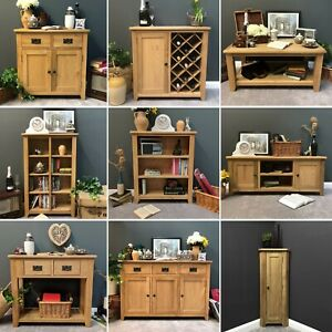 Oak Living & Dining Room Sideboard TV Coffee Tables Console Bookcase NEW Grange