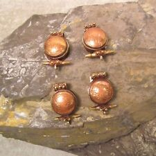 Lot of 4 Tibetan Nepal Handmade Pendant Copper Brass Mixed Metal Amulet