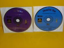 Lot of 2 Head to Toe &16 Tales 3 Lightspan PlayStation 1 RARE demo promo ps2 ps3
