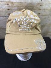 Disney Princess Girls Gold Embroidered Baseball Cap adjustable back strap