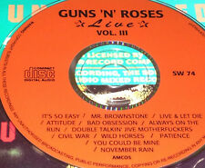 Guns N' Roses Live Vol 3 CD Rare Civil War You Could Be Mine November Rain Slash