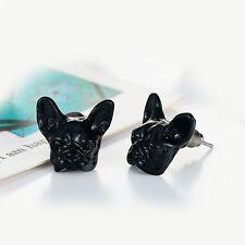 Funy Design Pug Retro Bulldog Animal Earrings Antique Bronze Silver Good Black