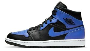 Air Jordan 1 Hyper Royal Retro Mid Black Blue 554724-077