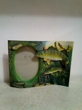 """Trout Fishing Picture Frame holds picture 3 1/2"""" x 5"""", frame 6"""" x 8.5"""""""