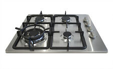60cm Stainless Steel Gas Cooktop (Natural Gas or LPG) 2 YEAR AUSTRALIAN WARRANTY