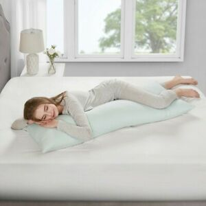 Luxury Bamboo Memory Foam Body Pillow w/Removable Cover - Medium Firmness