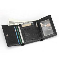 Cartera Hombre Pequeña de Piel Tarjeteros Tarjetas Billetera DNI Mini Monedero