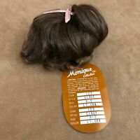 8 - 9 Cindy Monique Light brown wig baby straight hair Doll making parts 127