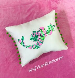 New Mermaid pillow made with LILLY PULITZER Hangin Around fabric