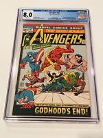 Avengers #97 1972 CGC 8.0 WHITE! KREE SCRULL WAR FINALE! ENDGAME SKRULLS!