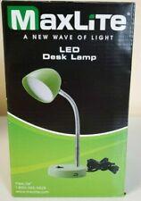 MaxLite LED Desk Lamp USB Charging Port Flexible Neck (Green)