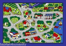 STREET MAP GREY SCHOOL CLASSROOM CAR PLAY LARGE AREA RUG 4 KIDS CHILDREN 8 X 11