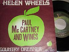 """7"""" Paul McCartney (Wings Beatles) Helen Wheels & Country Dreamer - Belgium #2283"""
