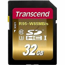 TRANSCEND SD HC SDHC 95MB/SEC 85M/WRITE 32GB UHS-I U3 ULTIMATE 32G 32 G GB CARD