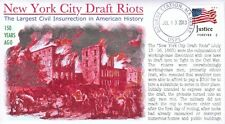 """COVERSCAPE computer designed 150th the """"New York City Draft Riots"""" event cover"""