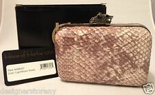 House of Harlow 1960 'Marley' Clutch Bag Light Brown Snake Print