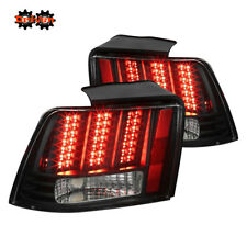 Ford Mustang 99-04 GT Base V6 V8 Saleen Sequential LED Tail Lights Black Housing
