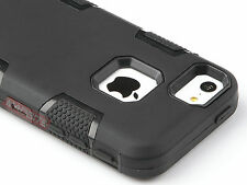 New Black Non Slip Grip Shockproof Hybrid Protective Case Cover For iPhone 4 4s
