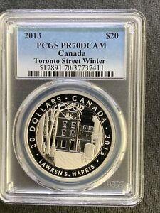 2013 Canada $20 Toronto Street Winter / PCGS PR70DCAM / 1 Oz Silver *No Reserve!